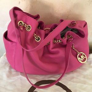 Pink pebble Michael Kors handbag